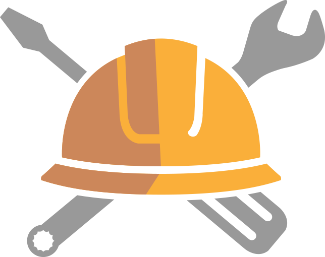 Icon of helmet and tools